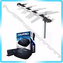 Kit Conversor Tv Digital Gravador H D M I + Antena Externa
