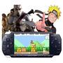 Playstation Sony Psp 16gb   60 Jogos   Skin God Of War
