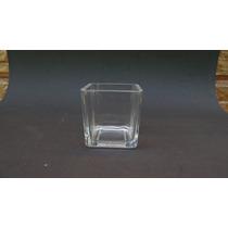 Vaso De Vidro Quadrado-castiçal- 10 X 10