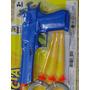 Arma Pistola 22cm Lançadora De Dardos Com Mola De Pressão