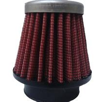 Filtro De Ar Espotivo Moto Titam150 Rd135 Dt 43mm Vermelho