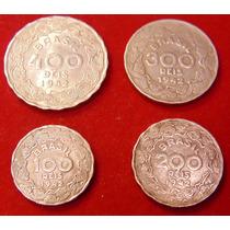 Moedas Escassas, Marajoara Rosa,100, 200, 300, 400 Reis 1942