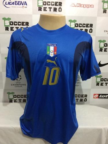 Camisa Italia Copa Do Mundo 2006 Totti 10 404fbff9f0025