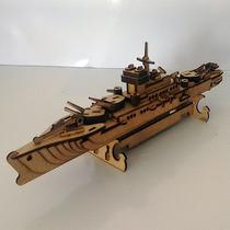 Quebra Cabeça 3d - Coleção Navio - Destróier Mdf 6 Mm