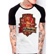 Camiseta Raglan Grifinória Harry Potter Filme Geek Bruxo 542