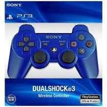 Controle Ps3 Original Personalizado Azul