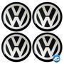 Kit C/ 4 Emblemas Resinado Volkswagen Vw Autocolante 90mm