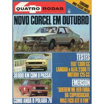 Quatro Rodas Nº205 Agosto 1977 Passat Polara Landau Alfa Ti