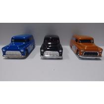 Miniatura Ho 1/87 55 Chevy Kit Com 3 Miniaturas.