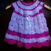 Vestidos De Bebe Em Crochê.