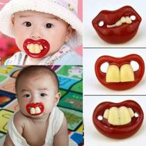 Chupeta Dente Engraçada Silicone Bico Ortodontico