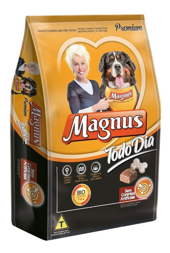 Magnus Premium Todo Dia Cães Adultos 25 Kg + 1 Sachê