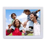 Porta Retrato Digital 12pol Videos Usb Mp3 C/controle Branco