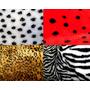 Tecido Pelúcia P Chinelos Pantufas Estampado Onça Zebra 12mm