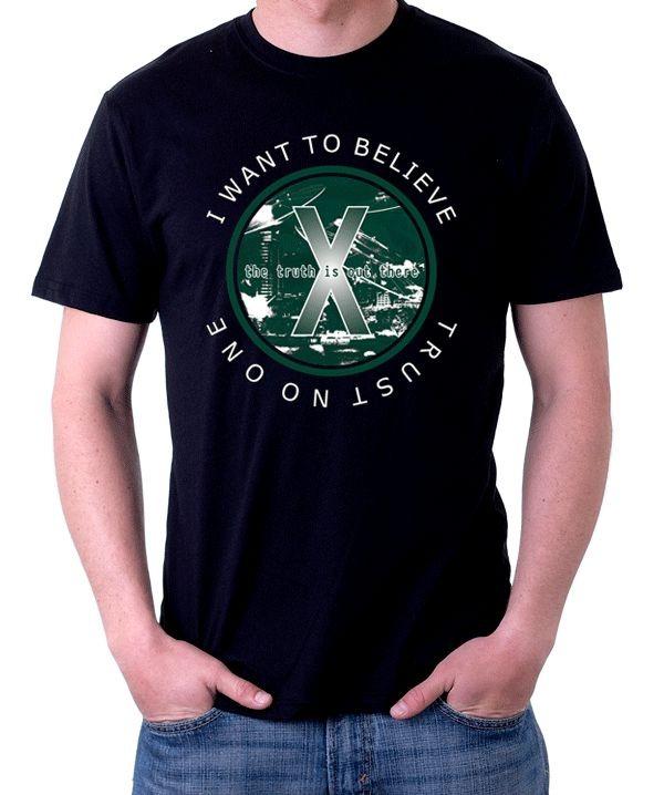 Camiseta Trust no one Arquivo X