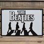 Placa Alto Relevo The Beatles, Bandas, Bares, Decoração 90cm
