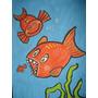 Maravilhosa Pintura Acrilico S/ Papel Canson Peixe Mar Pesca