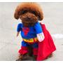 Roupa Fantasia Cachorro Gato Superman Tamanho M