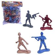 Kit De Soldados  - Brinquedo - Guerra - Policia - 120peças