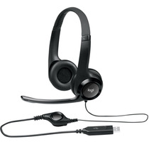 Logitech H390 Headset Usb Voip Microfone Volume Pc Notebook