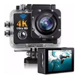 Action Câmera Hd Go Sport Wi-fi 4k 1080p Prova D'água + Nf