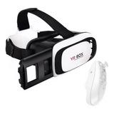 Kit Oculos Vr 3d Realidade Virtual Box + Controle + Nota F