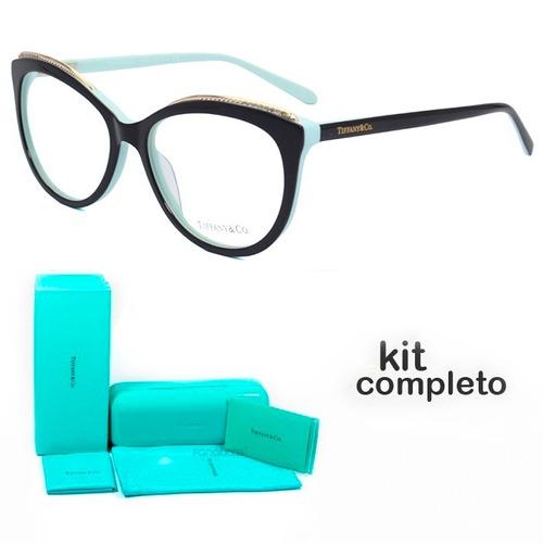 3e39978e2cb9f Armação De Grau - Tiffany   Co. Gatinho - Tf2147 Oculos Kit - R  238 ...
