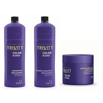 Itallian Trivitt Color Blonde Kit De Matizante 3 Produtos**