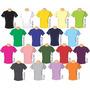 Camiseta Colorida - Lisa - 100% Algodão