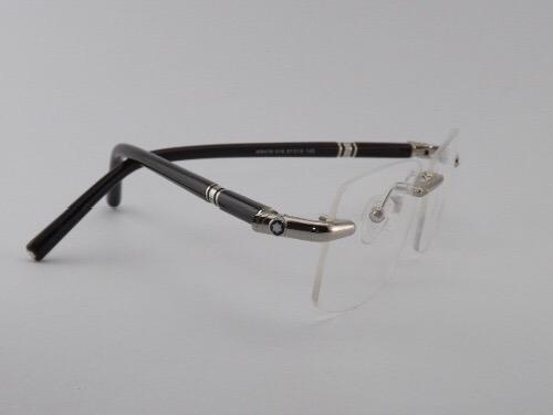 4d5d52b82b852 Armação P  Óculos De Grau Mont Blanc Sem Aro 476t Prata
