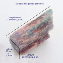 Turmalina Paraíba Violeta Bruta Pedra Preciosa Natural 3154
