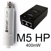 Bullet M5 Hp Ubiquit Outdoor 5ghz 400mw + Fonte Poe Envio Ja