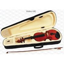 Kit Violino 4/4 Case, Arco, Breu E Afinador Digital