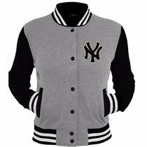 Moletom Blusas College Varsity New Yankees Jaquetas