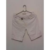 Bermuda Feminina Jeans Branca Cód. V84