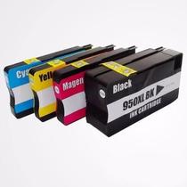 Kit 4 Cartuchos Hp 950xl 951xl Compativel Pro 8100 8600 251