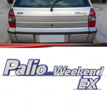 Emblema Tampa Porta Malas Fiat Palio Weekend Ex 96 Até 2000
