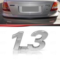 Emblema Tampa Porta Malas Fiat Palio Siena 1.3 Cromado