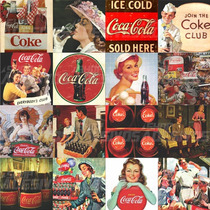 Adesivo Decorativo Azulejo Cozinha Coca Cola Vintage