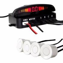 Sensor Estacionamento Traseiro Led & Sonoro Xtune Branco