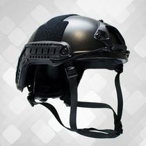 Capacete De Proteção Para Airsoft E Paintball Full Black