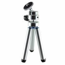 Mini Tripe Celular Camera Articulado Universal Prata Preto
