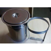 Lixeira Pia Cozinha Embutir No Granito Em Inox - 5 Litros