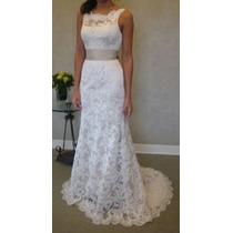 Vestido Noiva Simples Festa Casamento Decote Costas Calda