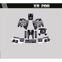 Adesivos Gráficos Personalizados Moto Xr 200 Cola 3m