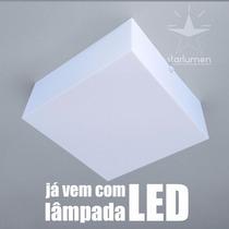 Kit 11x Plafons Led Acrílico 30x30 Luminária Com Lâmpada