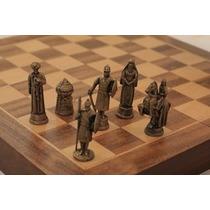 Jogo De Xadrez Batalha Das Cruzadas Peças Zinco Envelhecido