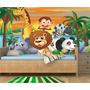 Painel Adesivo Safari Decorativo Parede Infantil Zoo Mod27