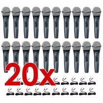 Liquidação Kit 20 Microfones Profissionais + Cabos Icm I-113