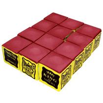 Giz Triangle Vermelho 12 Peças Para Taco De Bilhar (10921)